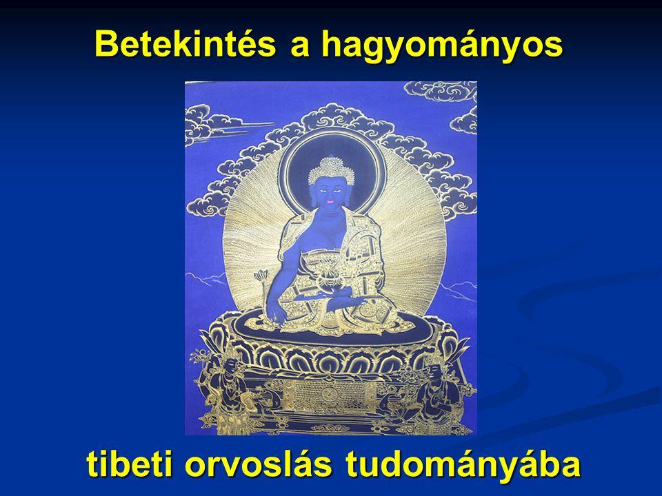 """Csoma tanulmánya a tibeti gyógyászatról • Kőrösi Csoma tanulmányának alapjául szolgáló kompendiumot Szangye Puncog – Csoma tanító lámája készítette 1823-24-ben; (""""A nyolcágú orvoslás, megjegyzések a Négy Tantrához címmel) • Szangye Puncog – Ladakh első számú orvosa volt; kiváló tudós – orvostudomány mellett még számos tudományágban volt jártas;"""