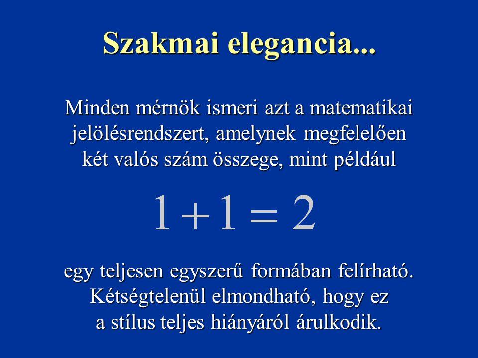 Minden mérnök ismeri azt a matematikai jelölésrendszert, amelynek megfelelően két valós szám összege, mint például egy teljesen egyszerű formában felí