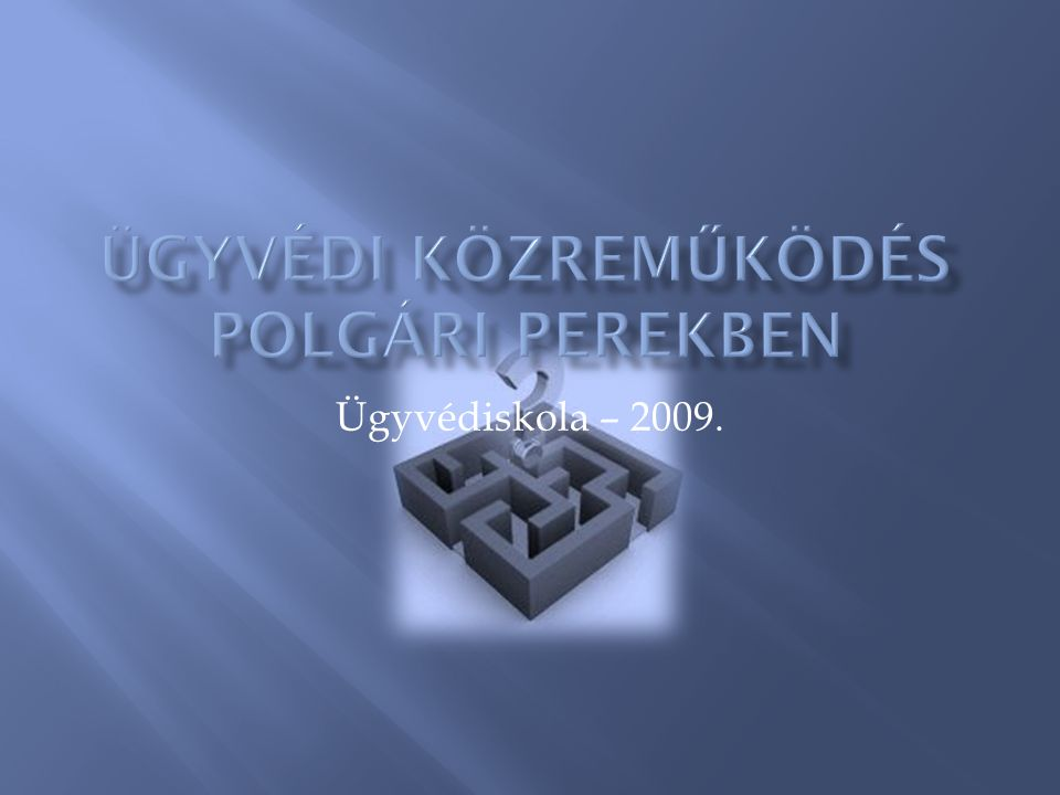 Ügyvédiskola – 2009.