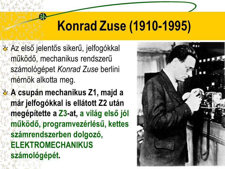 Az első jelentős sikerű, jelfogókkal működő, mechanikus rendszerű számológépet Konrad Zuse berlini mérnök alkotta meg. A csupán mechanikus Z1, majd a
