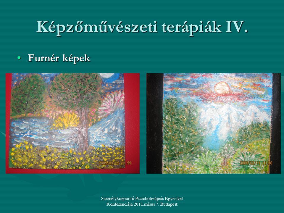 Személyközpontú Pszichoterápiás Egyesület Konferenciája 2011.május 7. Budapest Képzőművészeti terápiák IV. •Furnér képek