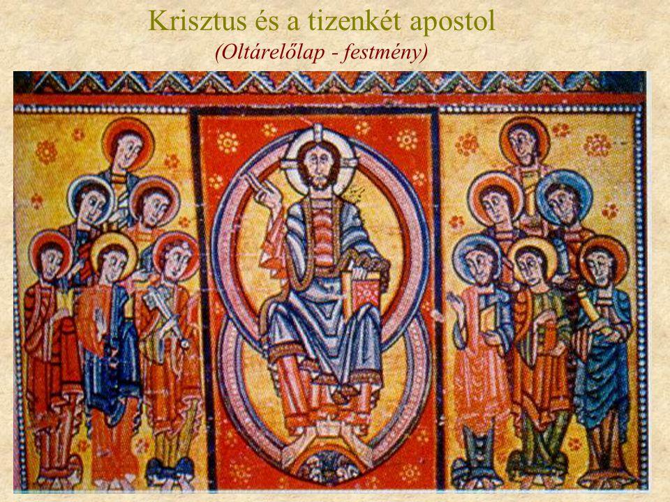 Krisztus és a tizenkét apostol (Oltárelőlap - festmény)