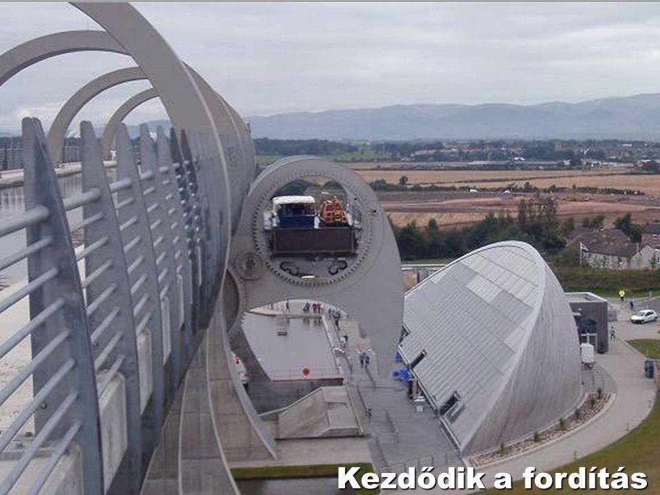 Már két hajó van a kerékben Felső csatorna 35 m Alsó csatorna