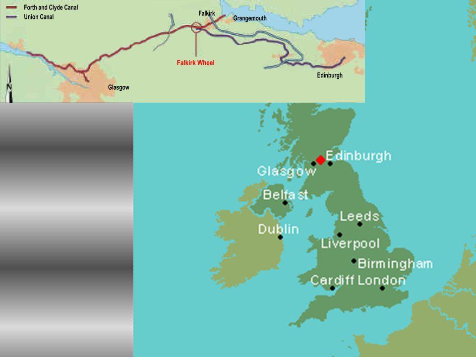 Grangemouth kikötője és Falkirk vonalon 1777-ben épült meg a Forth and Clyde csatorna, amely összekötötte Glasgow-t a nyugati parttal.