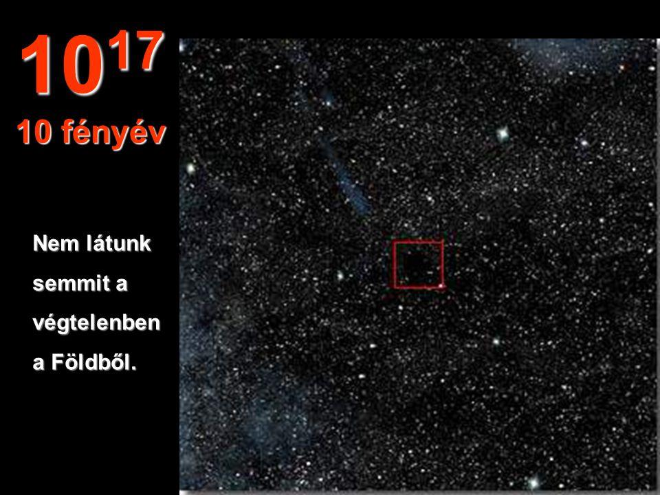 1 fényévnyi távolságból a Nap apró csillag csupán. 10 16 1 fényév