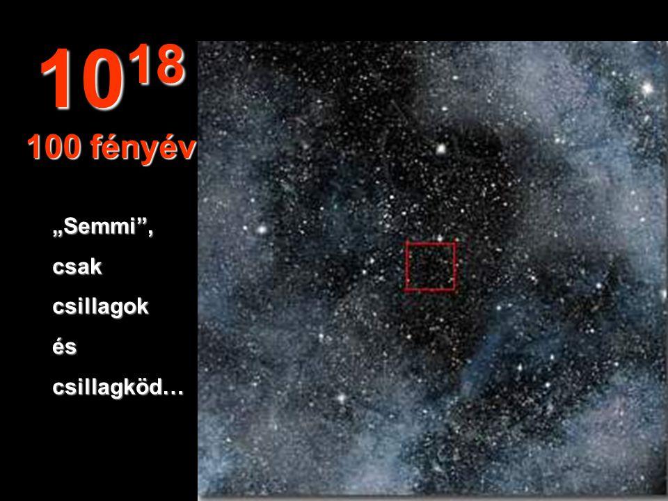 Nem látunk semmit a végtelenben a Földből. 10 17 10 fényév