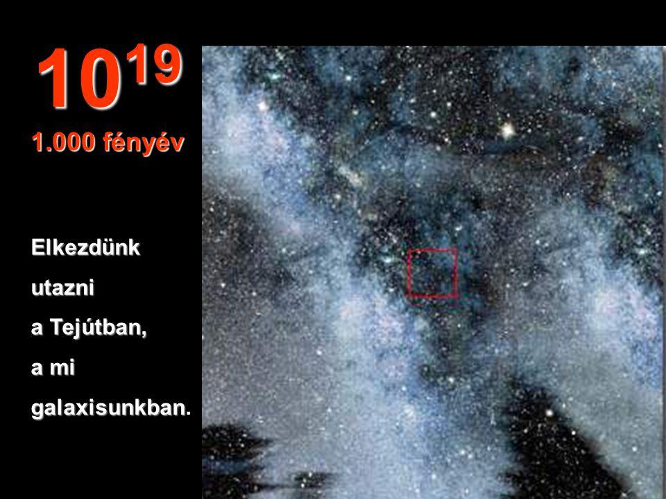 """""""Semmi"""",csakcsillagokéscsillagköd… 10 18 100 fényév"""