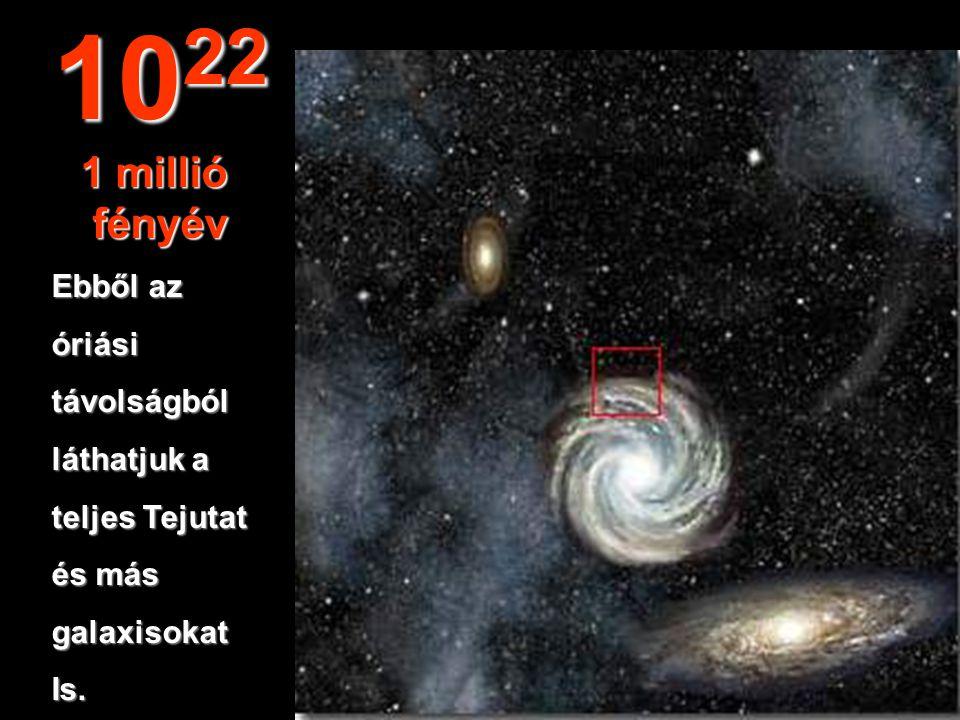 Elérjük a Tejút- rendszerszélét. 10 21 100.000 fényév