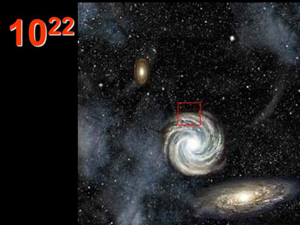 Ebből a távolságból valamennyi galaxis kicsinek, belülről üresnek tűnik. Ugyanezen törvények vonatkoznak az Univerzum valamennyi anyagára. Folytathatn