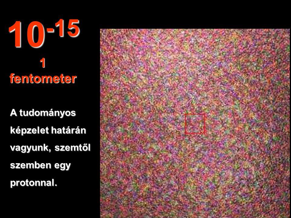 A szénatom magját látjuk. 10 -14 10 fentométer