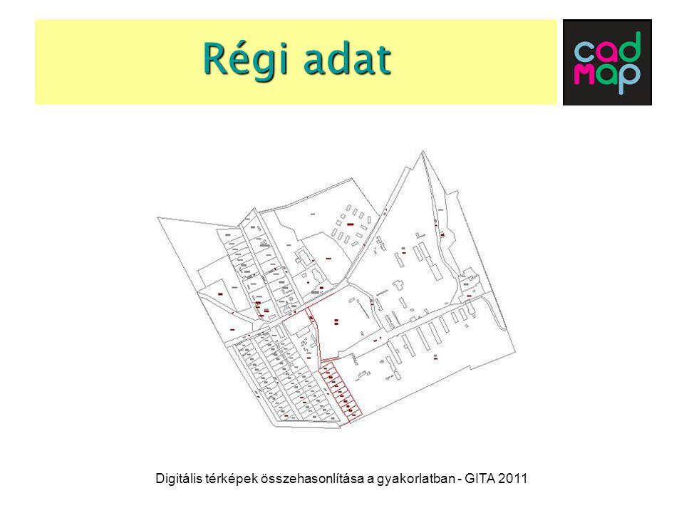 Változtatandó elemek Digitális térképek összehasonlítása a gyakorlatban - GITA 2011