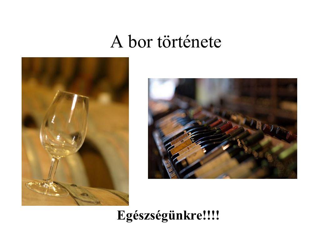 A bor története Egészségünkre!!!!