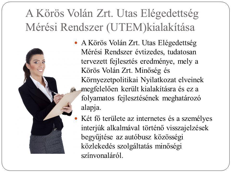 A Körös Volán Zrt. Utas Elégedettség Mérési Rendszer (UTEM)kialakítása  A Körös Volán Zrt.