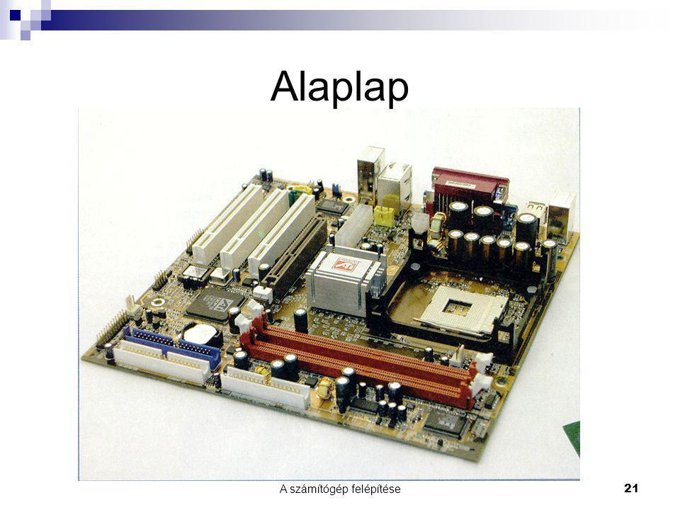 A számítógép felépítése21 Alaplap