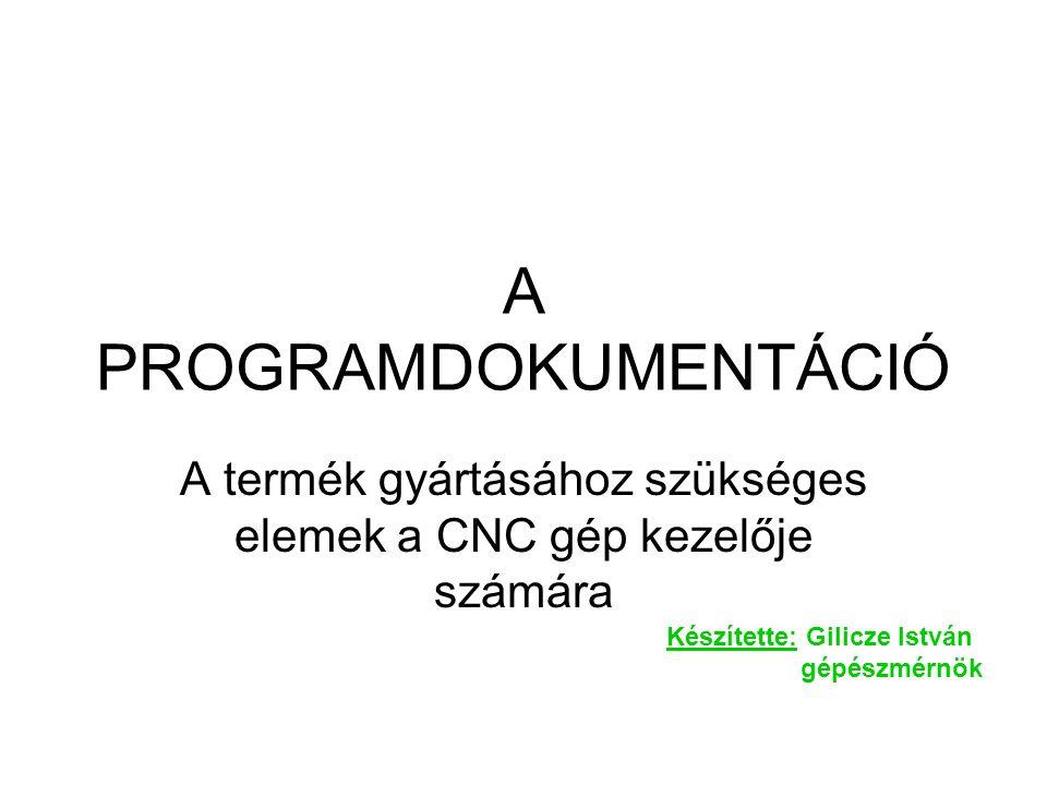 A programok dokumentálása •A gyártási dokumentáció sokféle szempontrendszer szerint elkészíthető.