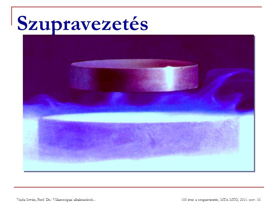 Vajda István, Prof. Dr.: Villamosipari alkalmazások... 100 éves a szupravezetés, MTA MTO, 2011. nov. 10. Szupravezetés