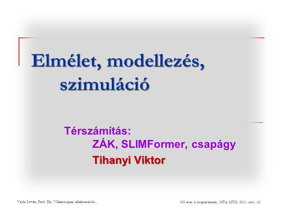 Vajda István, Prof. Dr.: Villamosipari alkalmazások... 100 éves a szupravezetés, MTA MTO, 2011. nov. 10. Elmélet, modellezés, szimuláció Térszámítás: