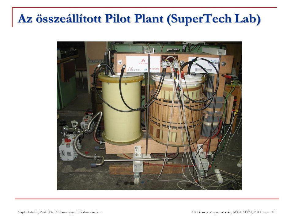 Az összeállított Pilot Plant (SuperTech Lab) Vajda István, Prof.