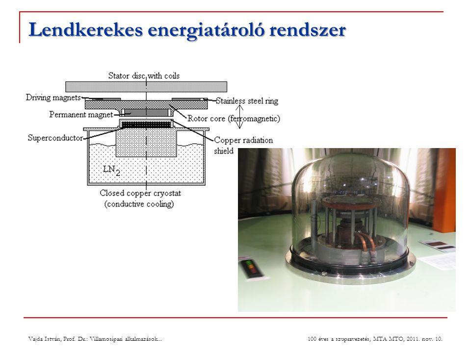 Lendkerekes energiatároló rendszer Vajda István, Prof.