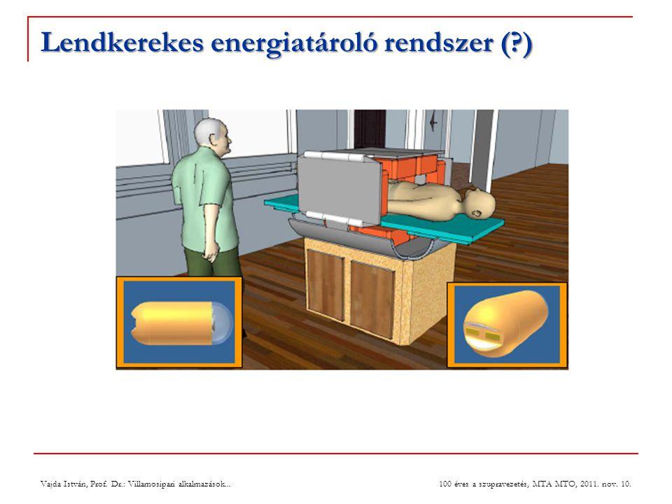Lendkerekes energiatároló rendszer (?) Vajda István, Prof. Dr.: Villamosipari alkalmazások... 100 éves a szupravezetés, MTA MTO, 2011. nov. 10.