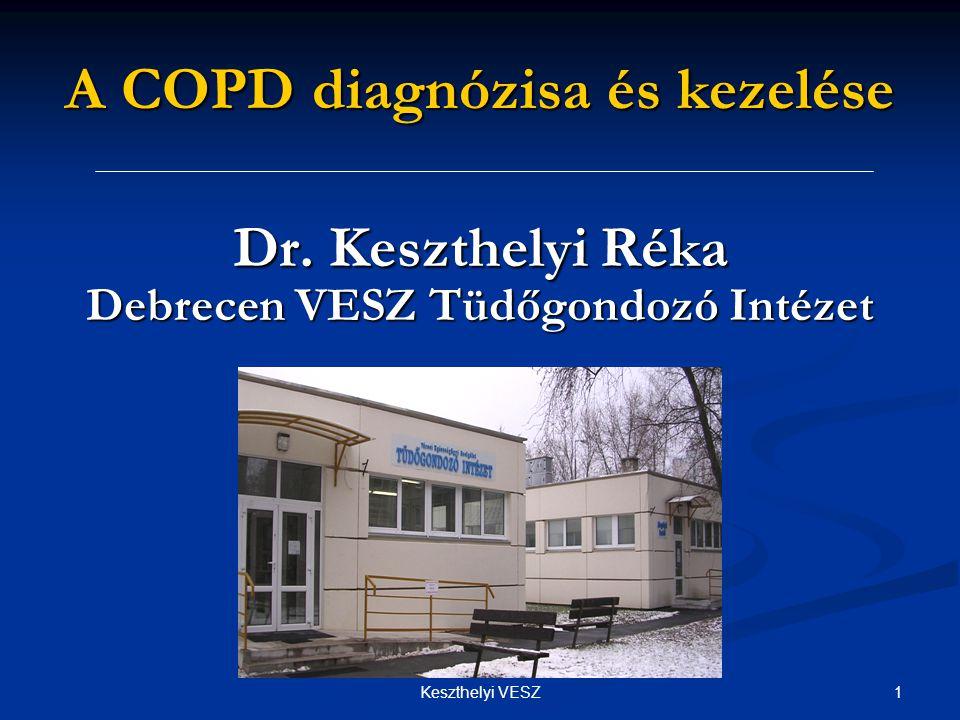 2Keszthelyi VESZ A COPD epidemiológiája  Fejlett országok felnőtt lakosságának 4-7%-át érinti  2010-re a 4.