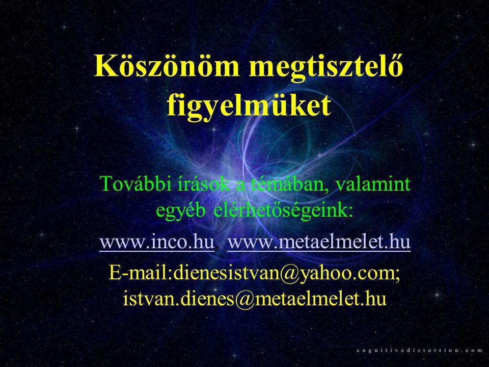 Köszönöm megtisztelő figyelmüket További írások a témában, valamint egyéb elérhetőségeink: www.inco.huwww.inco.hu, www.metaelmelet.huwww.metaelmelet.h