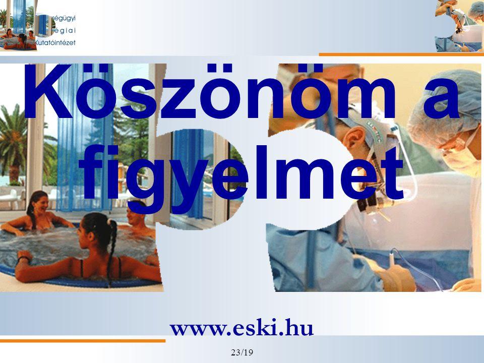 23/19 Köszönöm a figyelmet www.eski.hu