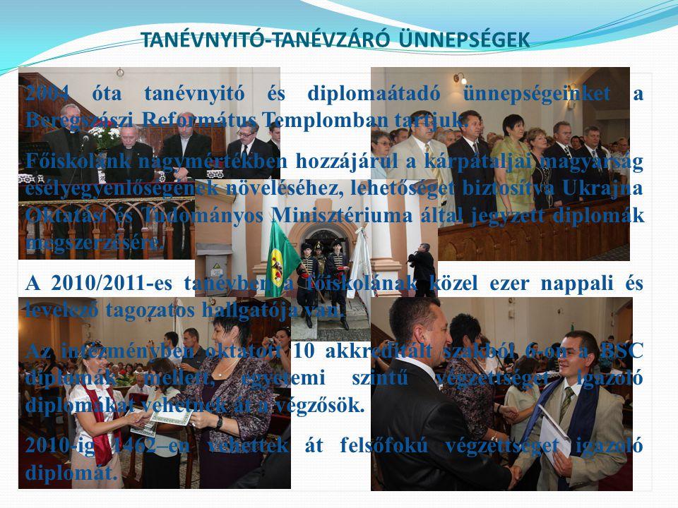 RÁKÓCZI NAPOK MÁRCIUSI RENDEZVÉNYSOROZAT A FŐISKOLÁN SZOBORAVATÁS 2006.