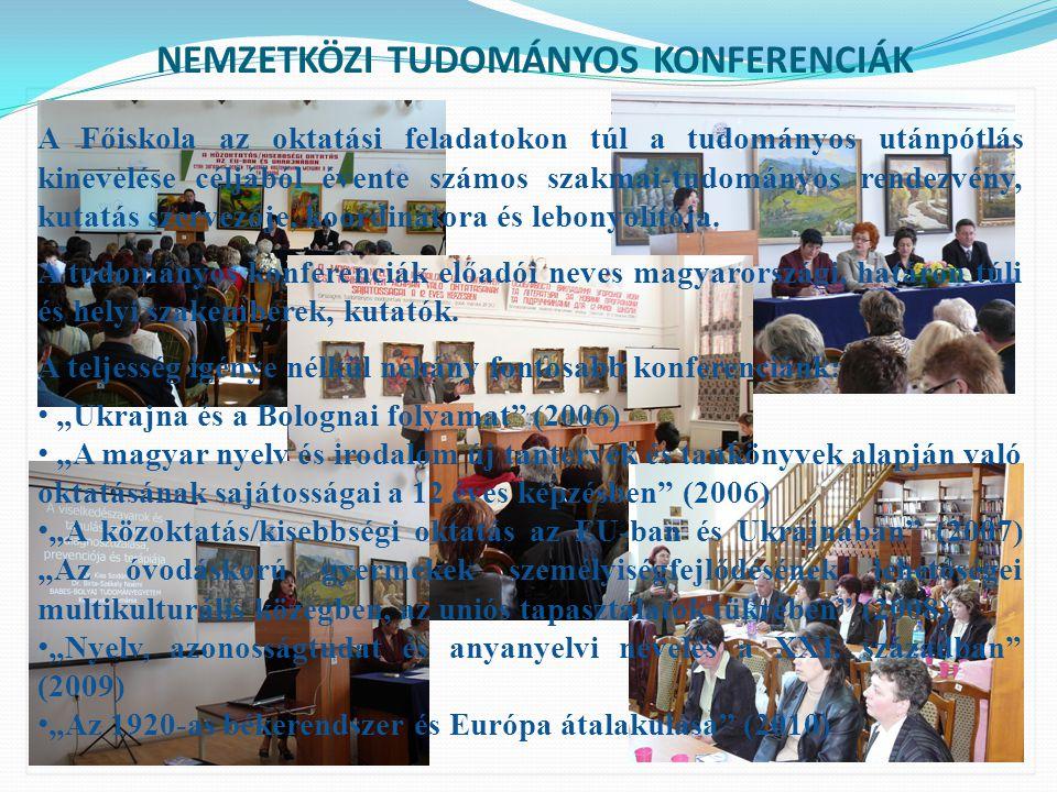 FELSŐOKTATÁSI INTÉZMÉNYEK NEMZETKÖZI KÓRUSTALÁLKOZÓJA Kiemelt feladatának tekinti a magyar kultúra terjesztését, azon belül szűkebb régiónk, Kárpátalja kulturális életének fellendítését, színesítését is.