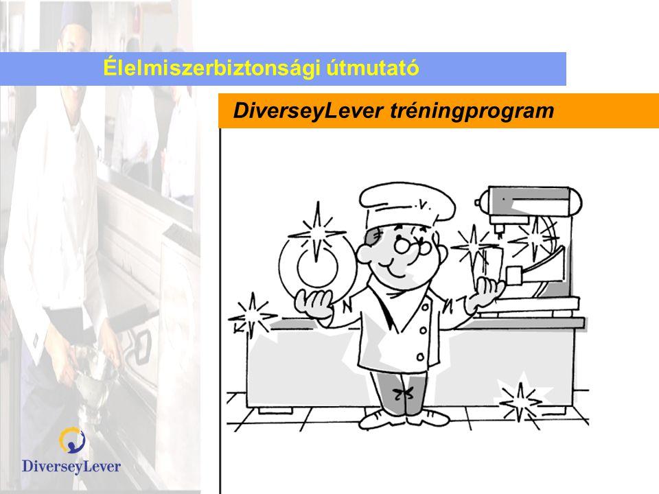 Élelmiszerbiztonsági útmutató DiverseyLever tréningprogram