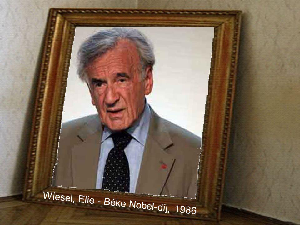 Wiesel, Elie - Béke Nobel-díj, 1986