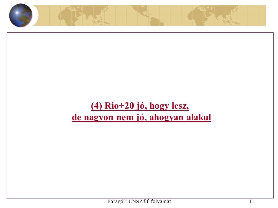 FaragóT: ENSZ f.f. folyamat11 (4) Rio+20 jó, hogy lesz, de nagyon nem jó, ahogyan alakul