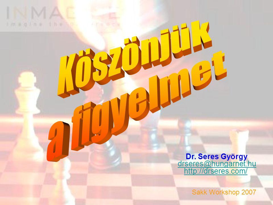 Dr. Seres György drseres@hungarnet.hu http://drseres.com/ Sakk Workshop 2007