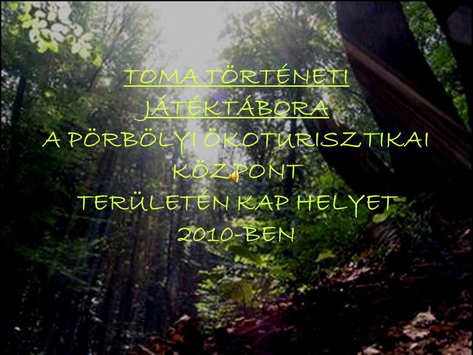 TOMA TÖRTÉNETI JÁTÉKTÁBORA A PÖRBÖLYI ÖKOTURISZTIKAI KÖZPONT TERÜLETÉN KAP HELYET 2010-BEN