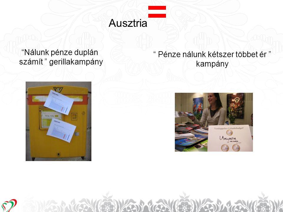 """12 Ausztria """" Pénze nálunk kétszer többet ér """" kampány """"Nálunk pénze duplán számít """" gerillakampány"""