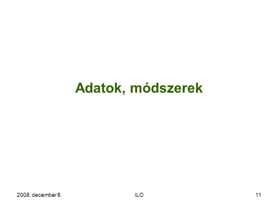 2008. december 8.ILO11 Adatok, módszerek