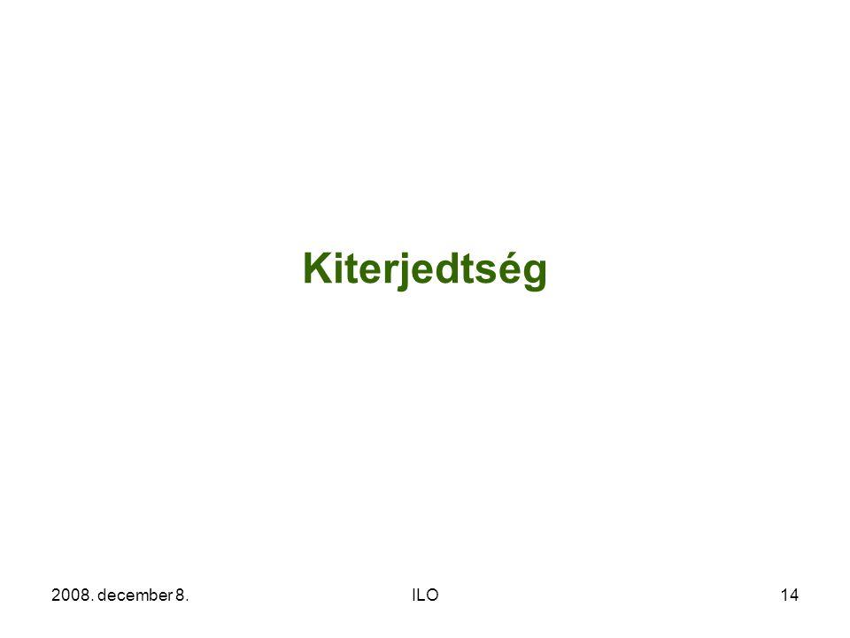 2008. december 8.ILO14 Kiterjedtség