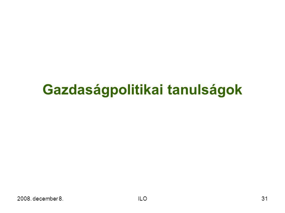 2008. december 8.ILO31 Gazdaságpolitikai tanulságok