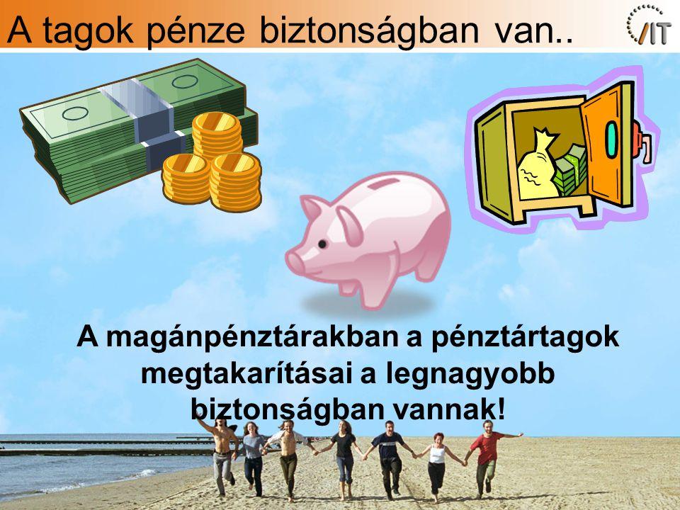 A tagok pénze biztonságban van..