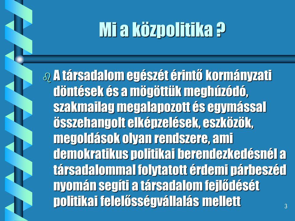 3 Mi a közpolitika .