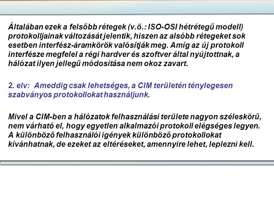 Általában ezek a felsőbb rétegek (v.ö.: ISO-OSI hétrétegű modell) protokolljainak változását jelentik, hiszen az alsóbb rétegeket sok esetben interfés