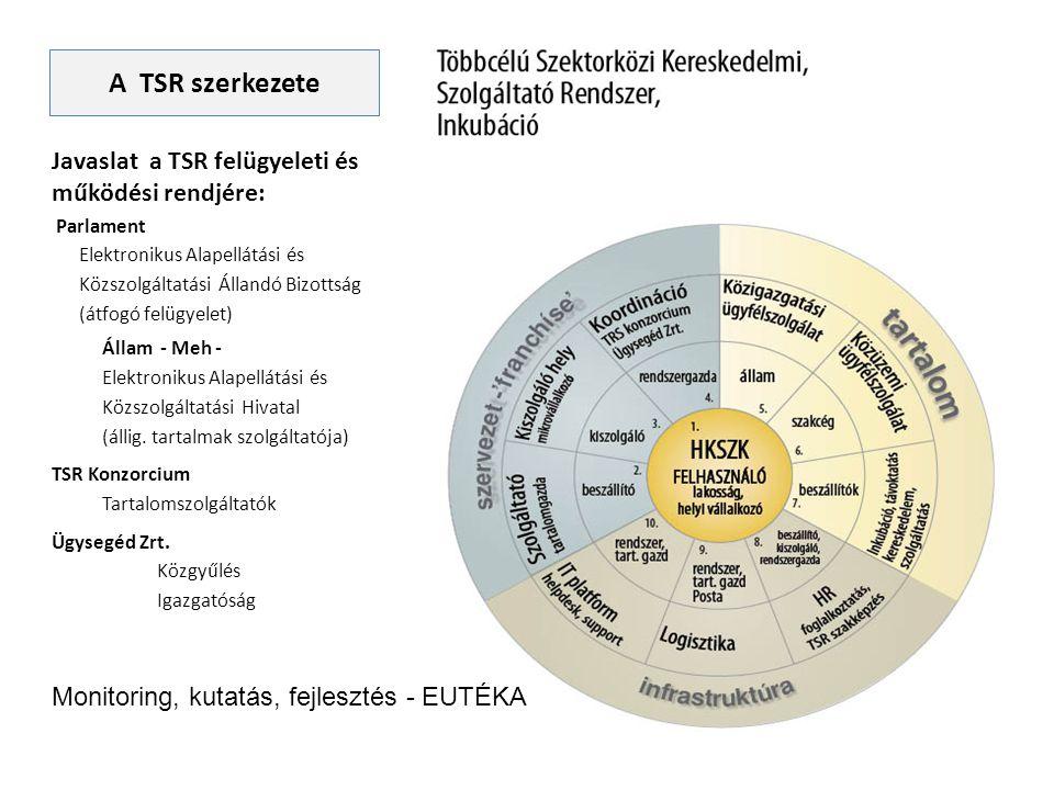 Javaslat a TSR felügyeleti és működési rendjére: Parlament Elektronikus Alapellátási és Közszolgáltatási Állandó Bizottság (átfogó felügyelet) Állam -
