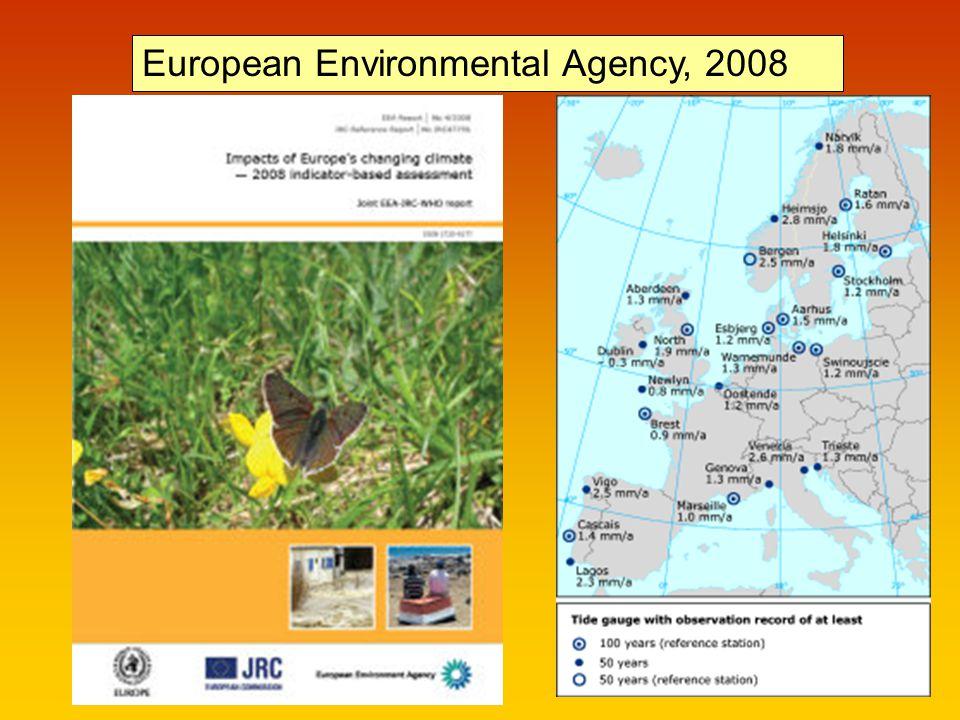 European Environmental Agency, 2008