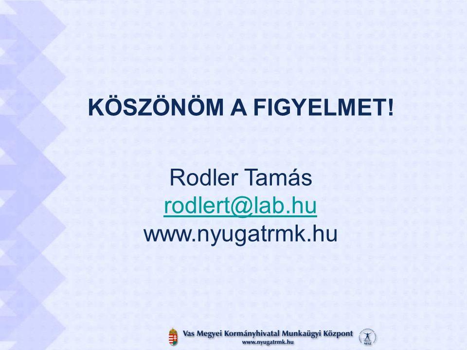 KÖSZÖNÖM A FIGYELMET! Rodler Tamás rodlert@lab.hu www.nyugatrmk.hu rodlert@lab.hu