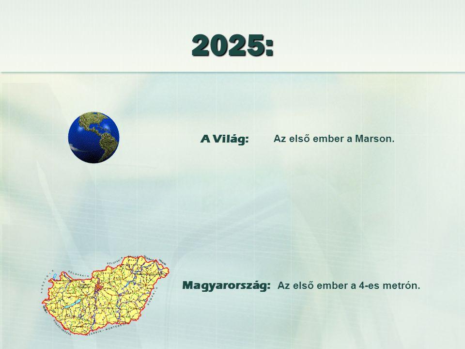 Elkészül a New York - London alagút.Átadják a magyar sztrádaprogram 2007-re ígért ütemét.