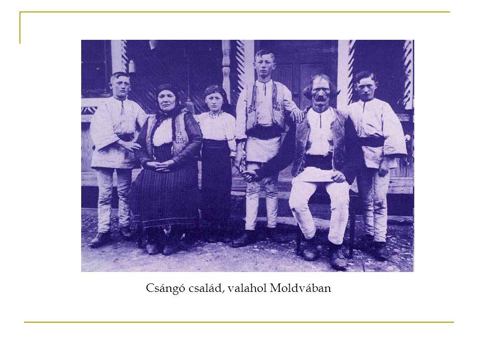 Csángó család, valahol Moldvában