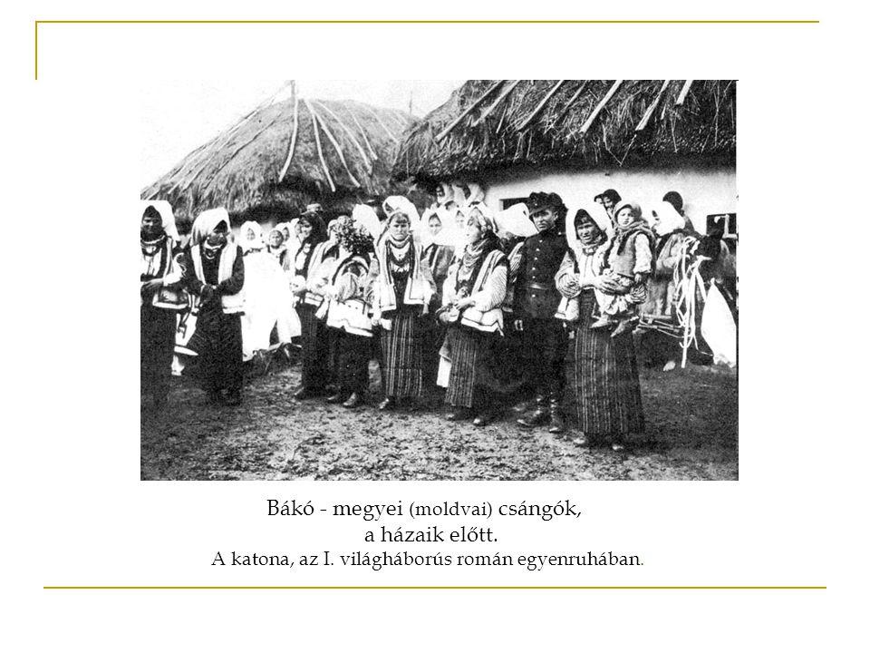 A csángó népek eredete Nagy valószínűséggel, még a honfoglalás körüli időkben, a Kárpátok vonalában, az ősmagyar törzsektől leszakadt népcsoportok utódai.