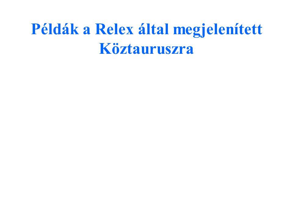 Példák a Relex által megjelenített Köztauruszra