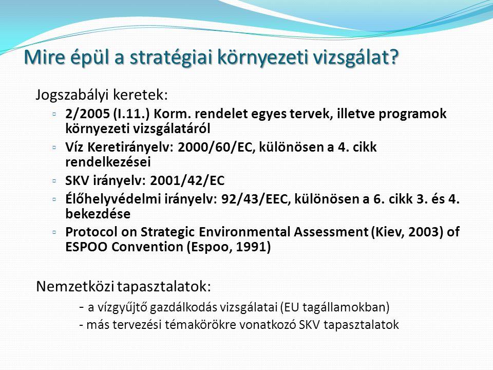 Az SKV kritériumai A jó minőségű SKV folyamat tájékoztatja a tervezőt, a döntéshozót és az érintett lakosságot a döntések fenntarthatósági alapelveknek való megfelelőségről, hozzásegít a megfelelő alternatívák megtalálásához és egy átlátható, nyitott döntéshozatali folyamatot biztosít.