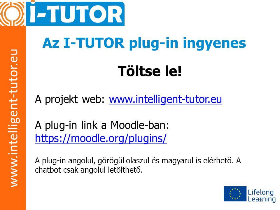 www.intelligent-tutor.eu 19 Az I-TUTOR plug-in ingyenes Töltse le! A projekt web: www.intelligent-tutor.euwww.intelligent-tutor.eu A plug-in link a Mo